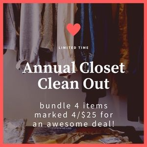 Fantastic closet clean out sale!